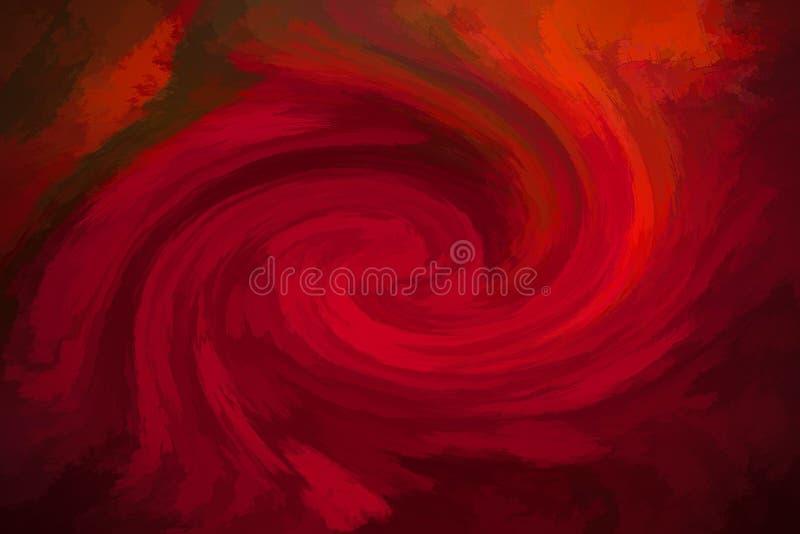 Fondo abstracto rojo del vórtice imagenes de archivo