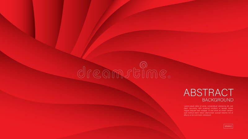 Fondo abstracto rojo, vector geométrico, diseño de la cubierta, plantilla del aviador, bandera, página web ilustración del vector