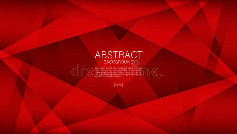 Fondo abstracto rojo, vector geométrico, textura gráfica, mínima, diseño de la cubierta, plantilla del aviador, bandera, página w ilustración del vector