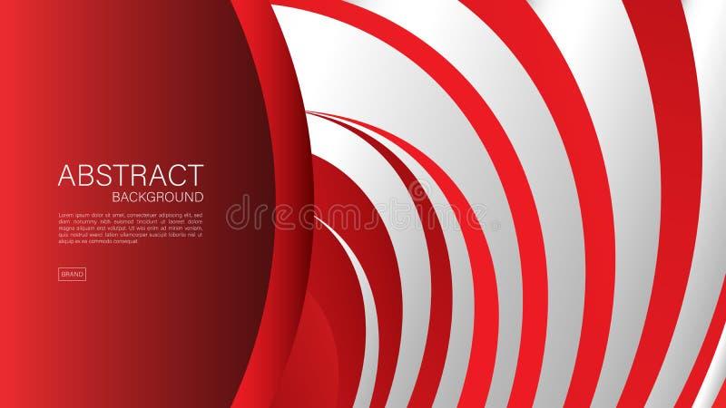 Fondo abstracto rojo, vector geom?trico, dise?o de la cubierta, plantilla del aviador, bandera, p?gina web libre illustration