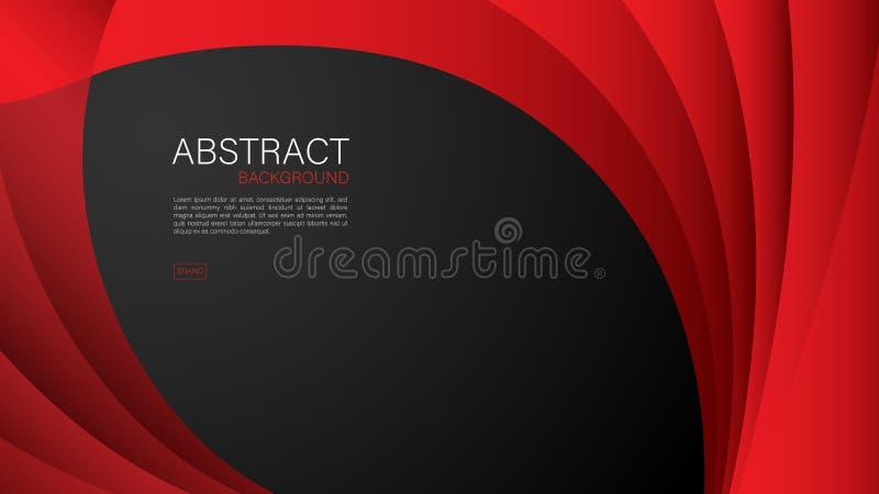 Fondo abstracto rojo, vector geom?trico, dise?o de la cubierta, plantilla del aviador, bandera, p?gina web ilustración del vector