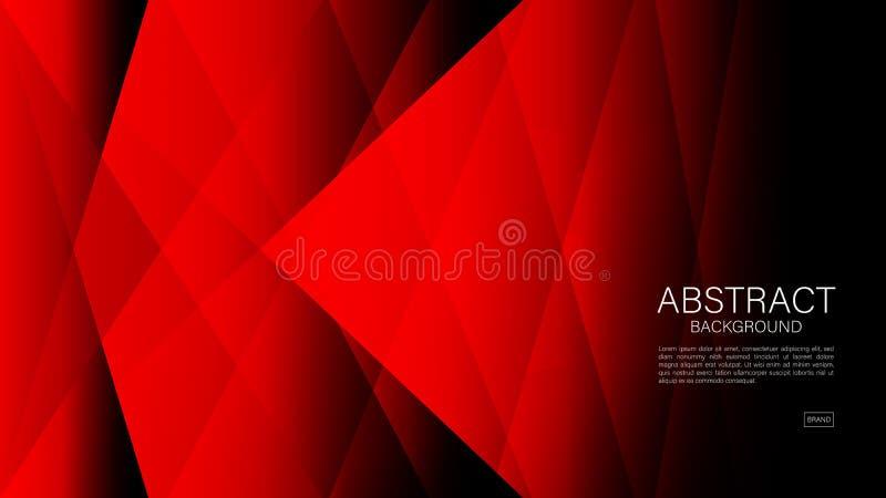 Fondo abstracto rojo, vector geom?trico, textura gr?fica, m?nima, dise?o de la cubierta, plantilla del aviador, bandera, p?gina w stock de ilustración