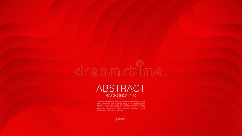 Fondo abstracto rojo, vector geom?trico, textura gr?fica, m?nima, dise?o de la cubierta, plantilla del aviador, bandera, p?gina w ilustración del vector