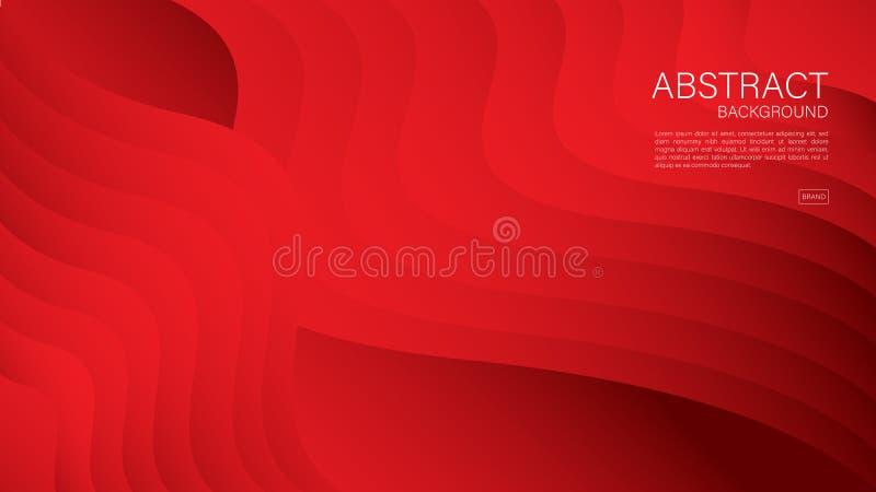 Fondo abstracto rojo, vector geom?trico, textura gr?fica, m?nima, dise?o de la cubierta, plantilla del aviador, bandera, p?gina w libre illustration