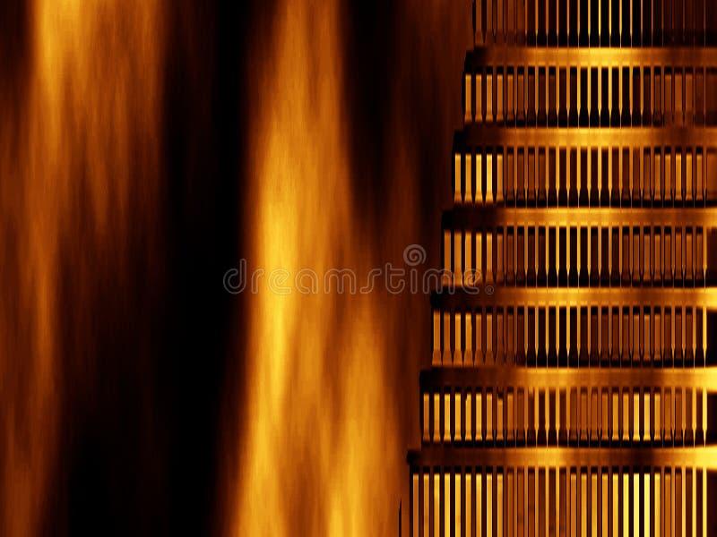 Fondo abstracto Roma quemada Nero ilustración del vector