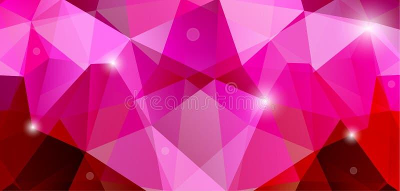 Fondo abstracto rosado stock de ilustración