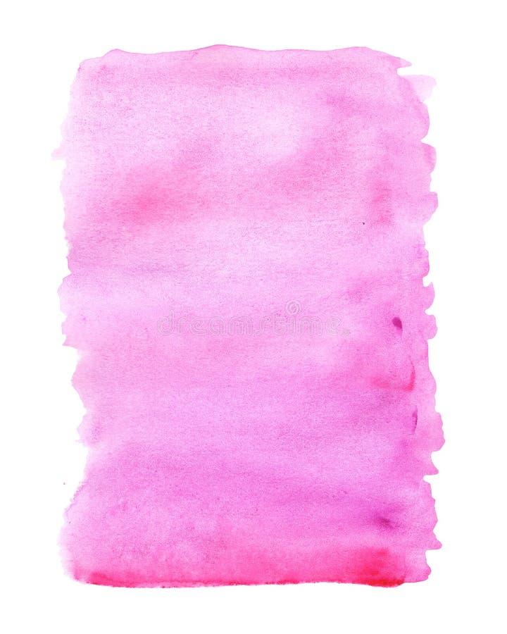Fondo abstracto rosado con las manchas de la acuarela contra el fondo blanco libre illustration