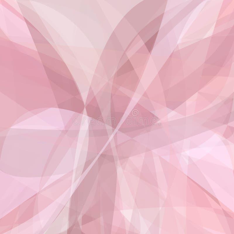 Fondo abstracto rosado de curvas dinámicas stock de ilustración