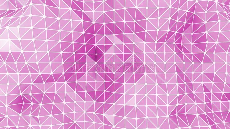 Fondo abstracto rosado de los triángulos stock de ilustración