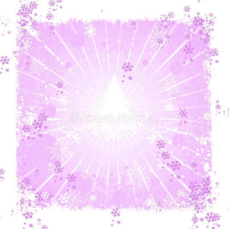 Fondo abstracto rosado del invierno ilustración del vector