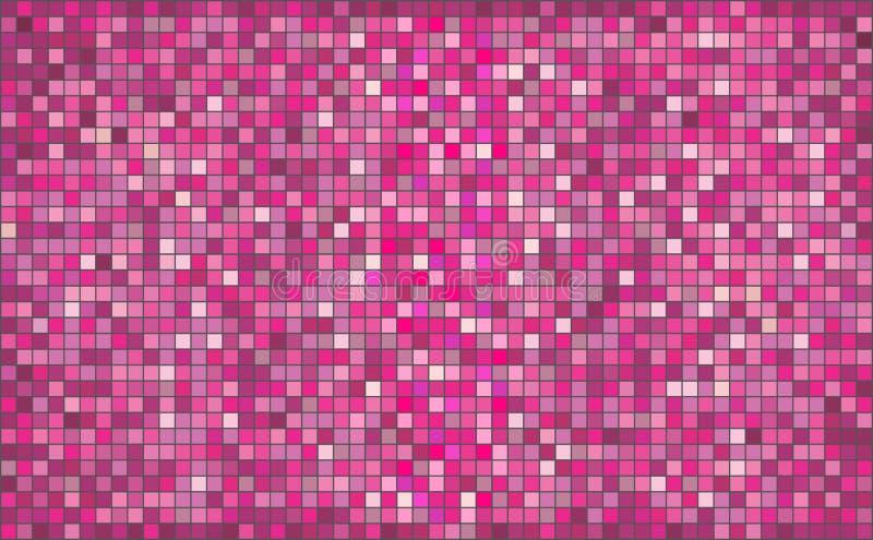 Fondo abstracto rosado del mosaico libre illustration