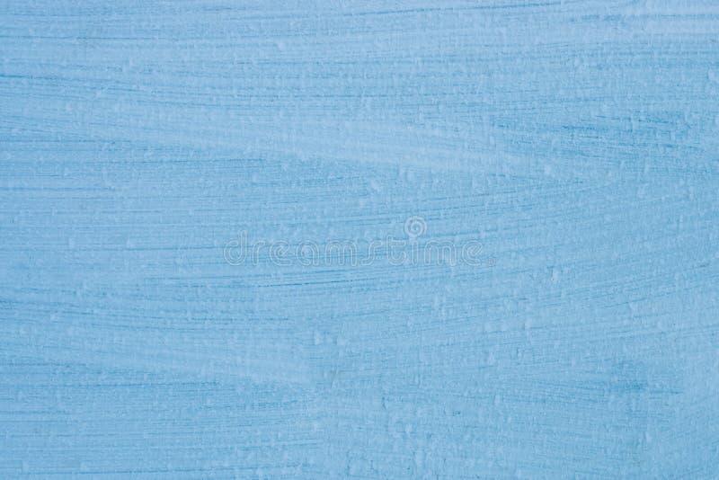 Fondo abstracto, textura del metal, rayas, pintura azul y cubierto con helada, imágenes de archivo libres de regalías
