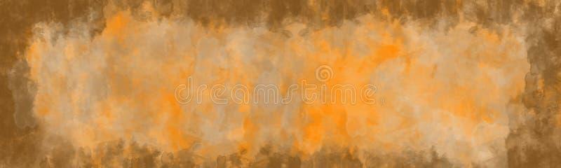 Fondo abstracto, textura del vintage con la frontera ilustración del vector