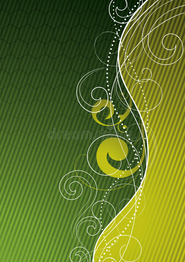 Fondo abstracto verde libre illustration