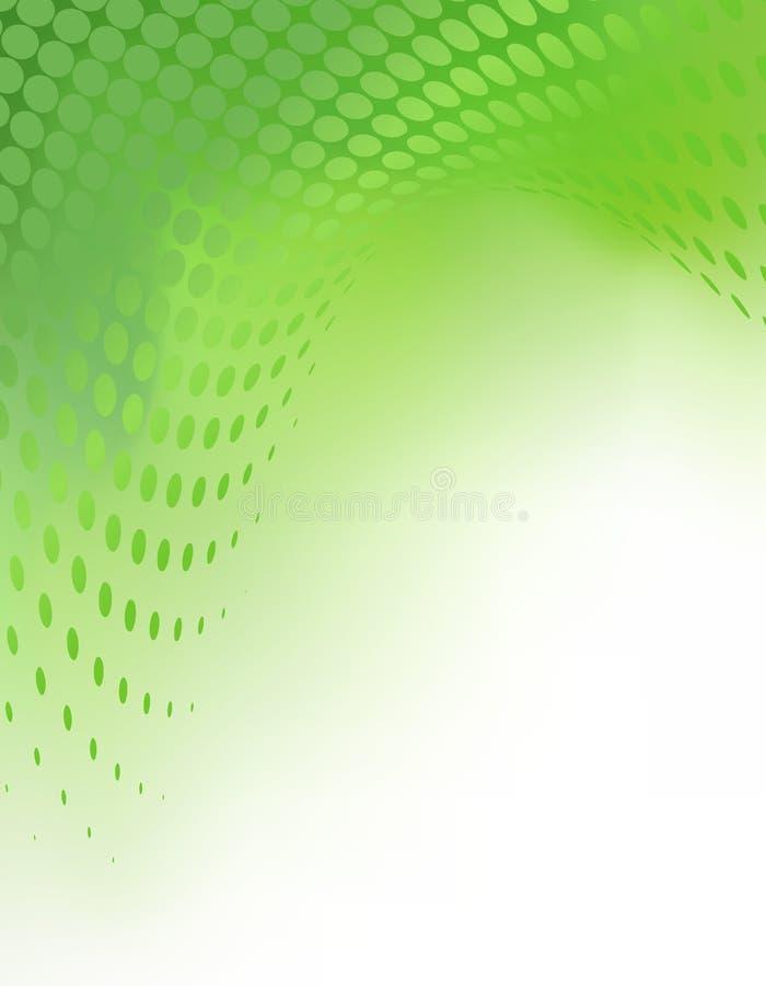Fondo abstracto verde creativo Tempate ilustración del vector