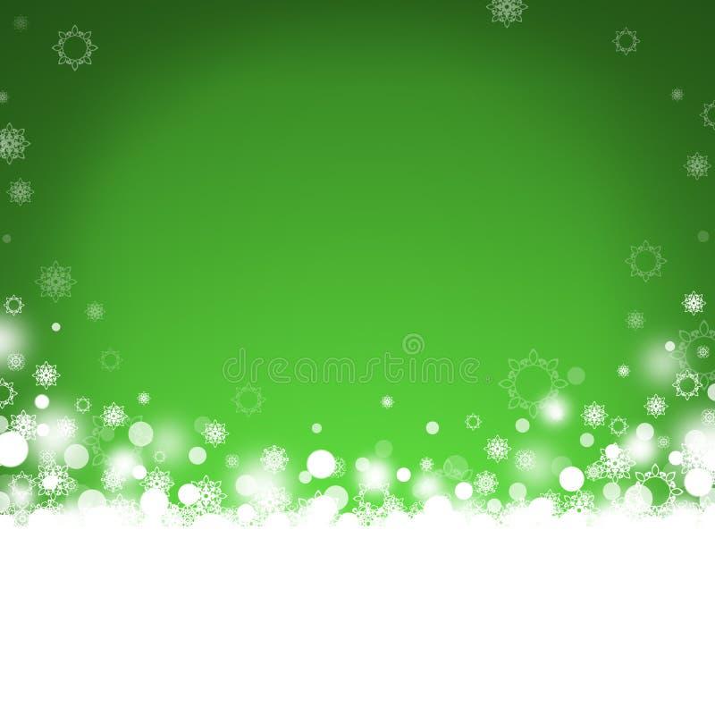 Fondo abstracto verde de la Navidad libre illustration