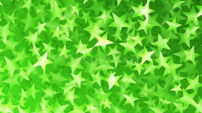 Fondo abstracto verde de pequeñas estrellas ilustración del vector