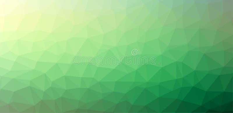 Fondo abstracto verde del polígono ilustración del vector