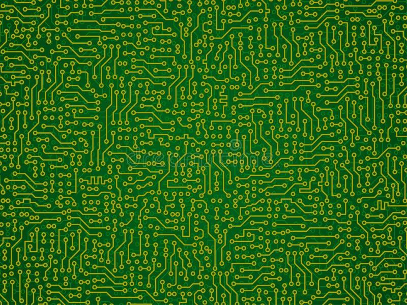 Fondo abstracto verde del vector - circ electrónico libre illustration