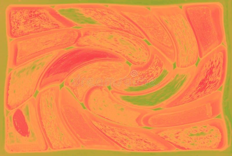 fondo abstracto Verde-rosado con torcer elementos fotos de archivo
