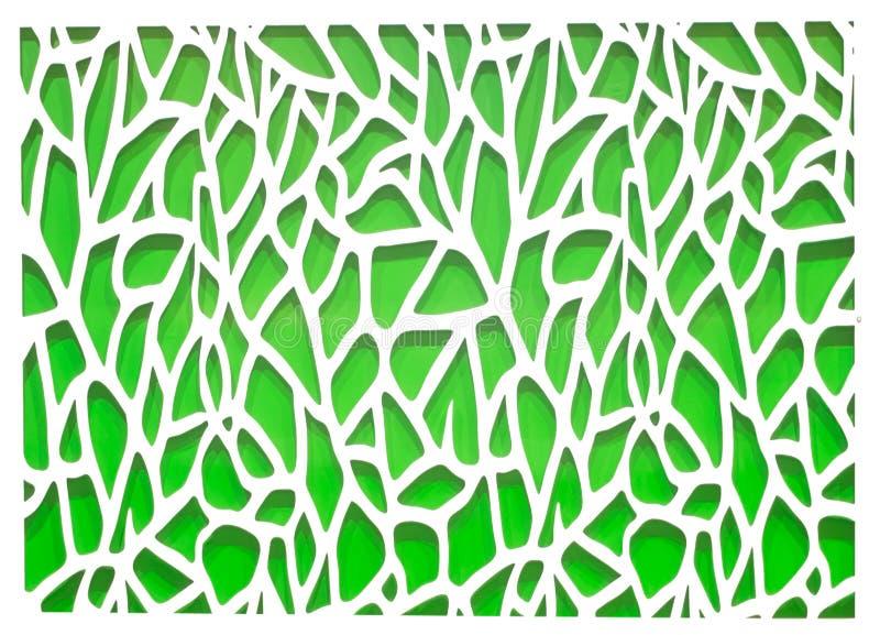 Fondo abstracto verde y blanco stock de ilustración