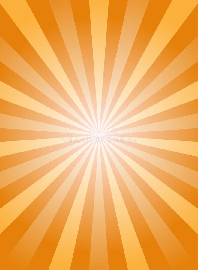 Fondo abstracto vertical de la luz del sol Naranja y fondo de la explosi?n de color oro ilustración del vector