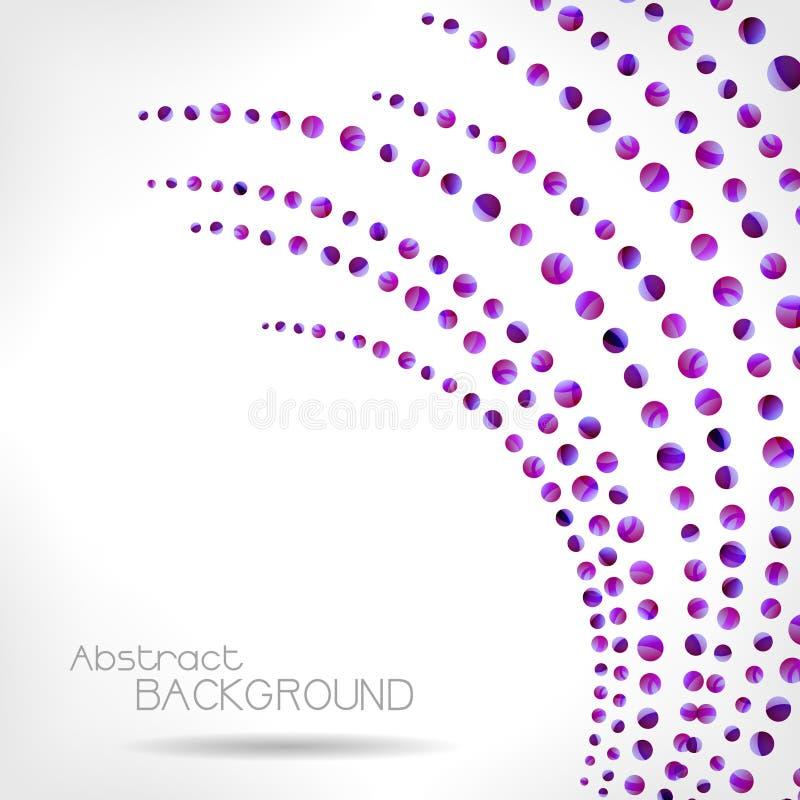 Fondo abstracto violeta stock de ilustración