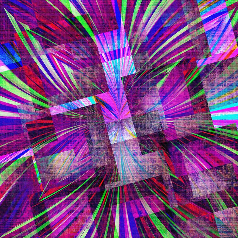 Fondo abstracto violeta, púrpura, verde y rojo colorido del fondo de la textura libre illustration