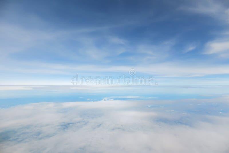 Fondo abstracto y de la falta de definición del cielo azul fotografía de archivo libre de regalías