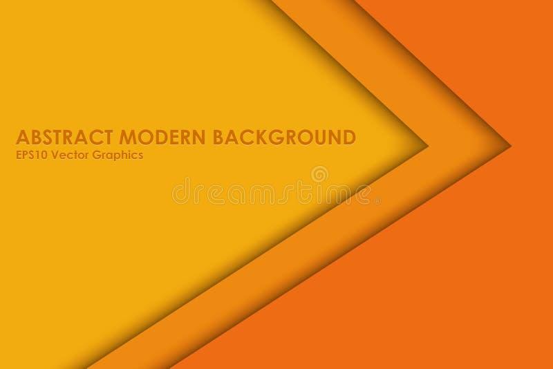 Fondo acodado moderno amarillo y anaranjado ilustración del vector