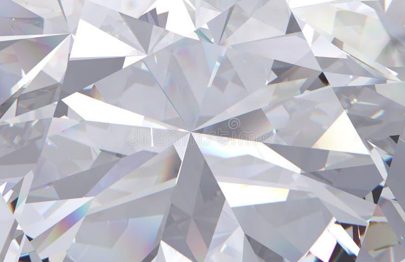 Fondo acodado multi del diamante blanco geométrico del extracto 3d rinden el modelo stock de ilustración