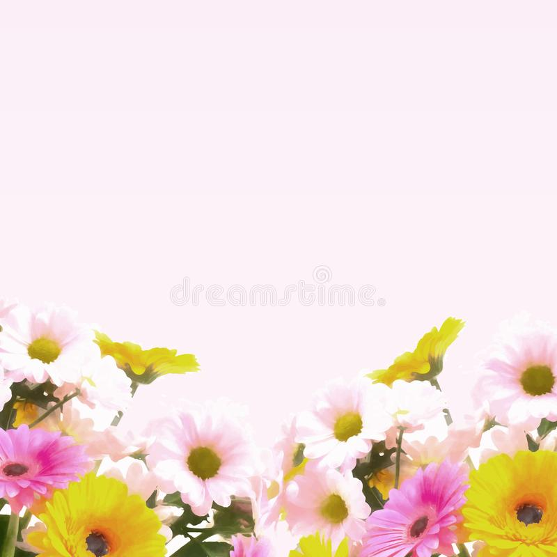 Fondo acquerello dei fiori illustrazione vettoriale