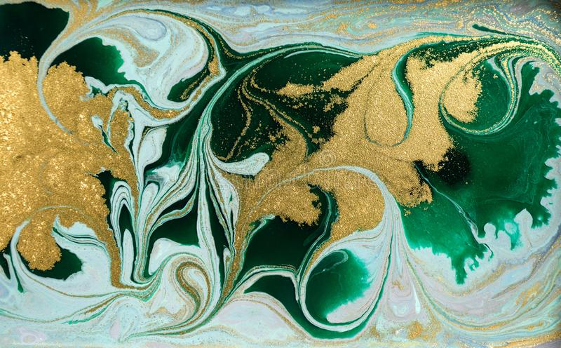 Fondo acrilico astratto di marmo Struttura di marmorizzazione del materiale illustrativo Modello dell'ondulazione dell'agata Polv fotografia stock libera da diritti