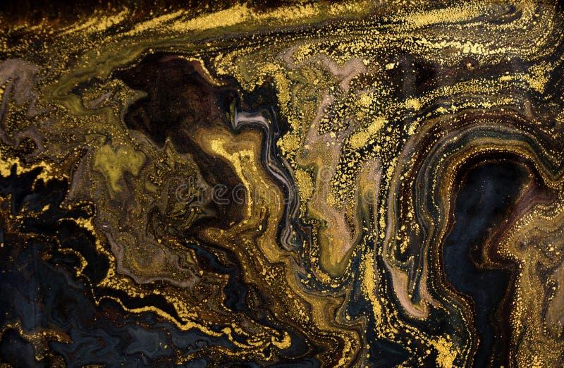 Fondo acrilico astratto di marmo Struttura di marmorizzazione del materiale illustrativo Modello dell'ondulazione dell'agata Polv immagine stock