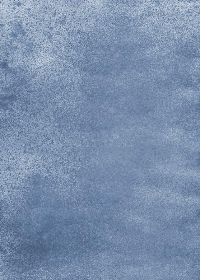 Fondo acrilico dell'acquerello cian blu inc dell'estratto fotografia stock libera da diritti