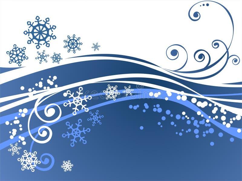 Fondo adornado azul ilustración del vector