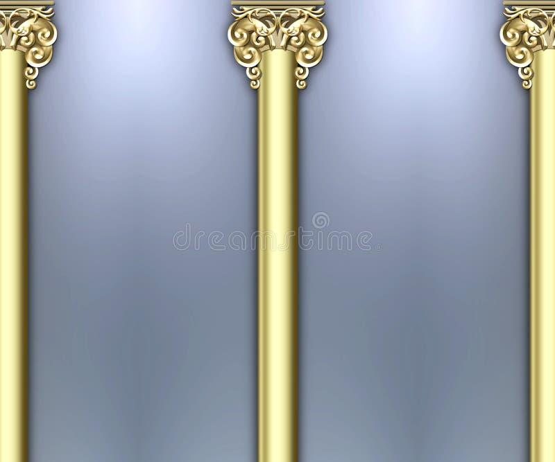 Fondo adornado de la columna stock de ilustración