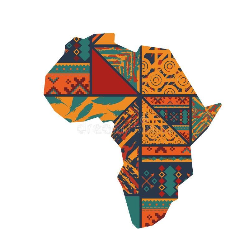 Fondo africano del continente illustrazione di stock