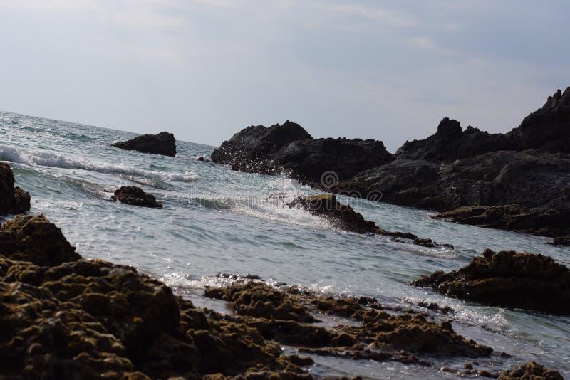 Fondo agradable de la playa del tiempo imágenes de archivo libres de regalías