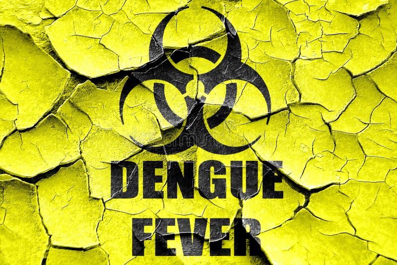 Fondo agrietado del concepto de la fiebre de dengue del Grunge fotografía de archivo libre de regalías