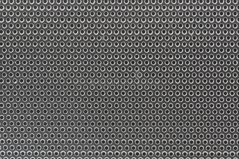 Fondo aislado sonido de plata del altavoz de graves del primer ilustración del vector
