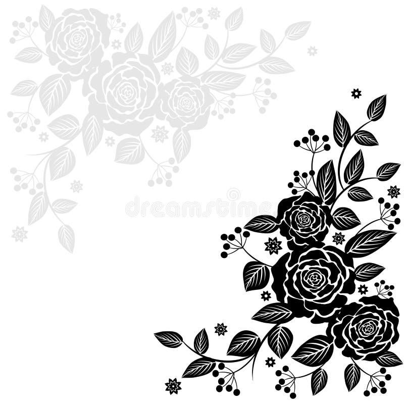 Fondo aislado vector de Rose stock de ilustración