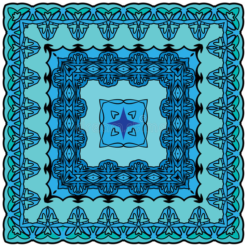 Fondo ajustado - estampado de flores ornamental Diseño para el banda stock de ilustración