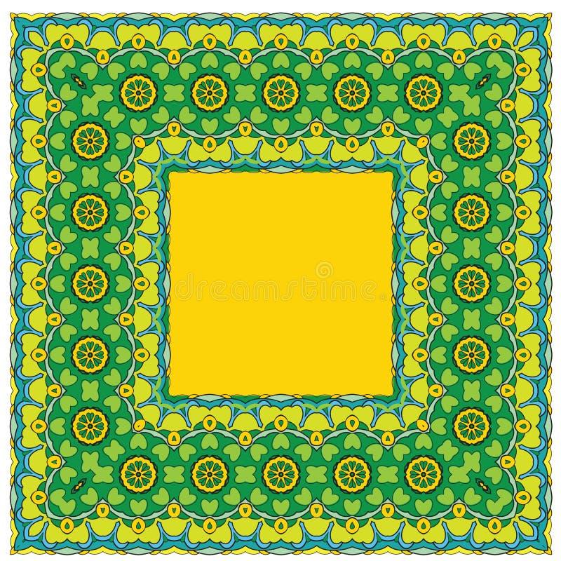 Fondo ajustado - estampado de flores ornamental Diseño para el banda libre illustration