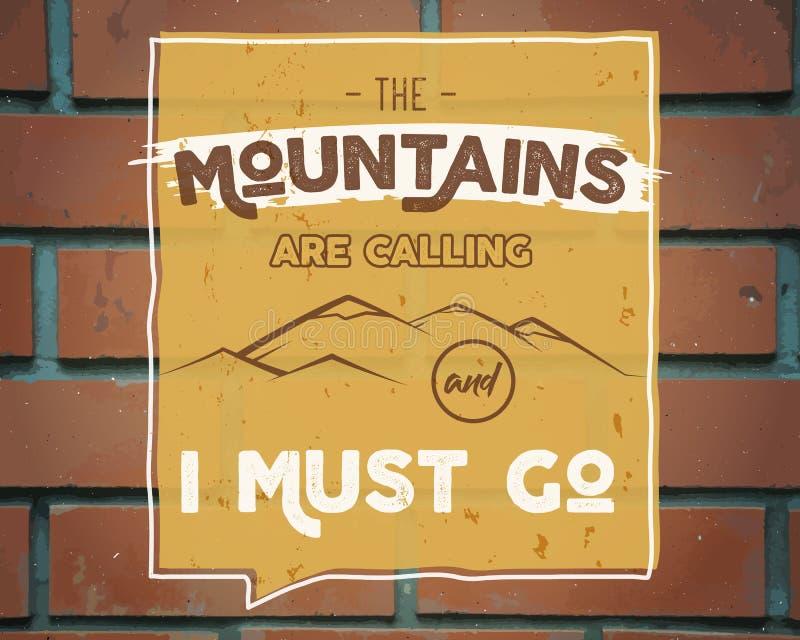 Fondo al aire libre de la inspiración Plantilla de la cita del folleto de la montaña de la motivación Aviador del deporte de la s ilustración del vector