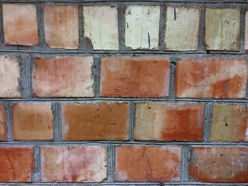 Fondo al aire libre del marco del brickwall del vintage Superficie rectangular sucia de la pared de piedra Viejo cuadrado rojo ma imágenes de archivo libres de regalías
