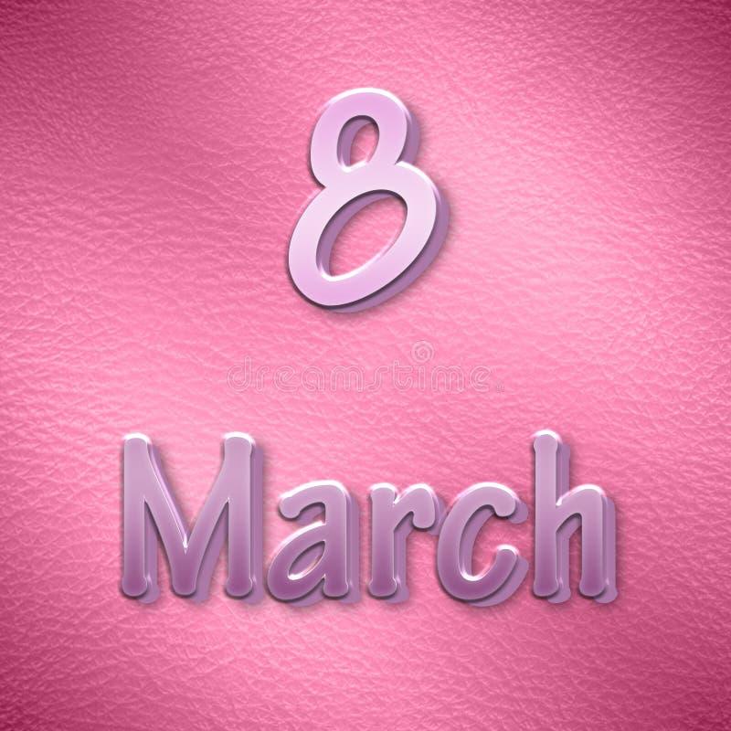 Fondo al día de las mujeres internacionales en rosa imagenes de archivo