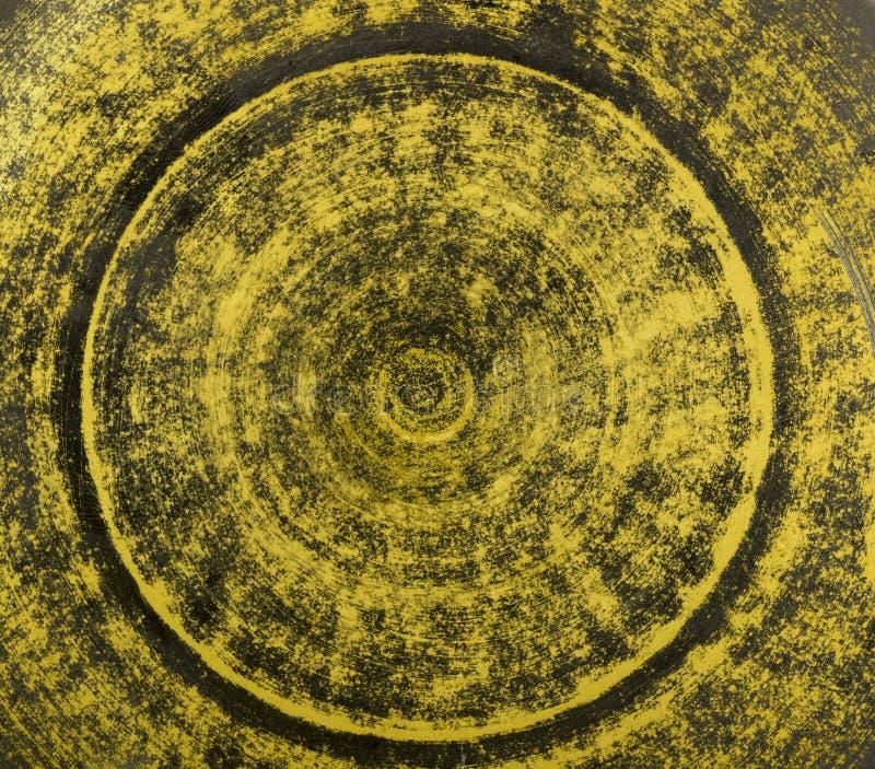 Fondo al forno arancio e verde delle terraglie dell'argilla immagini stock libere da diritti