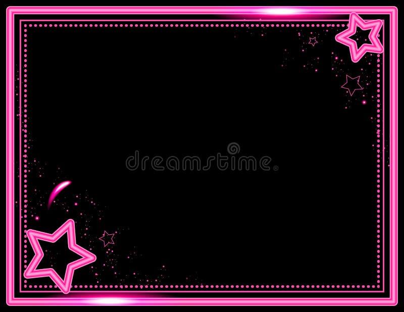 Fondo al neon di Starburst royalty illustrazione gratis