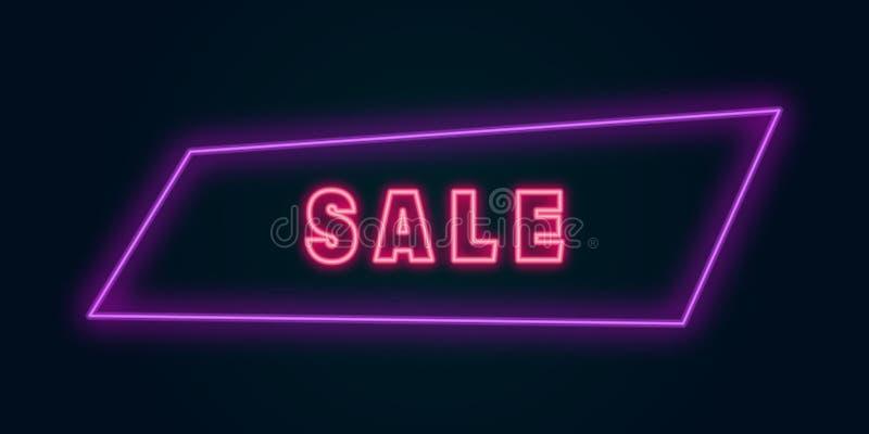 fondo al neon di vendita porpora rosa illustrazione vettoriale
